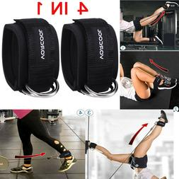 1 Pair Foot Ankle Strap for Cable Machine Attachment - Gym F