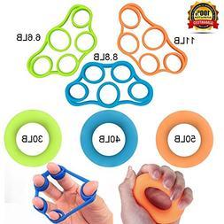 Helonge 1 Stretcher Exerciser, 6 Level Resistance, Hand Fing