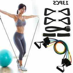 10/11/13 PC Resistance Band Set Yoga Pilates Abs Exercise Fi