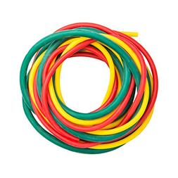 Cando 10-5380 Yellow/Red/Green Low-Powder Exercise Tubing PE