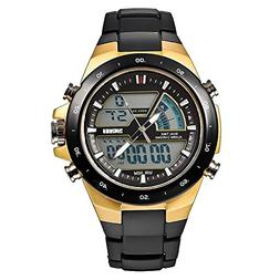 SKMEI Men's Digital Watch 50M Waterproof Large Dual Dial Mul