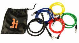 11 PC Resistance Band Set- Door Anchors, Ankle Straps, Handl