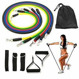Koncle 11 pcs Resistance Band Set, with 5 Exercise Bands, Do
