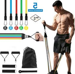11 PCS Resistance Bands Set Abs Yoga Exercise Fitness Tube W