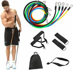 11 PCS Resistance Bands Set Home Gym Exercise Fitness Tube B