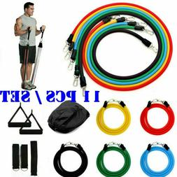 11 Pcs Resistance Bands Training Set Yoga Pilates Abs Exerci