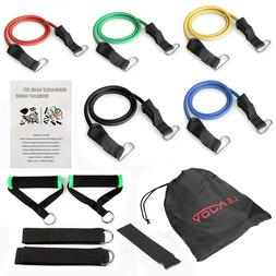 11 PCS Resistance Bands Yoga Pilates Abs Fitness Tube Workou