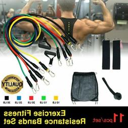 XPRT Fitness 11 PCS Resistance Tube Workout Bands Set -Fitne