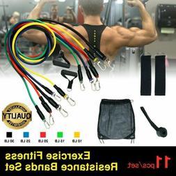 11 pcs resistance tube workout bands set