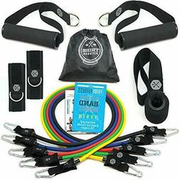 Tribe 11PC Premium Resistance Bands Set Workout Bands - with