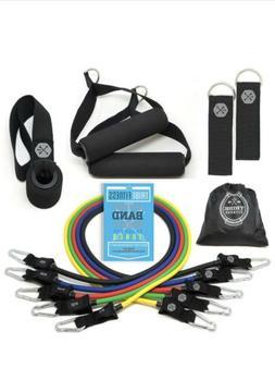 11 PCS Tribe Resistance Band Set Exercise Fitness Tube Worko