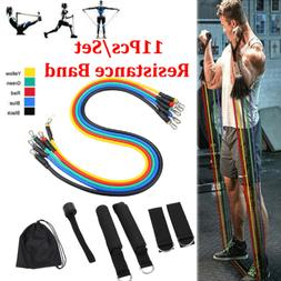 11pcs Fitness Resistance Bands Exercise Bands Portable Home