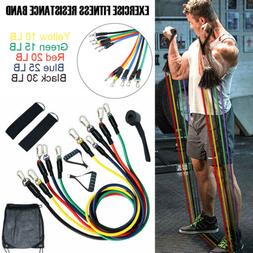 11pcs New Resistance Workout Bands Sets For Training Physica