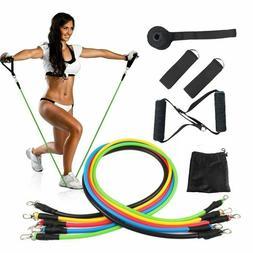 11PCS Resistance Band Set Yoga Pilates Latex Exercise Fitnes