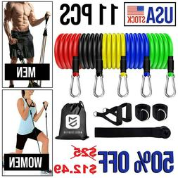 11Pcs Resistance Bands Home Workout Exercise Cross fit Fitne