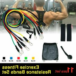11pcs resistance bands home workout exercise crossfit