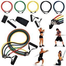 11pcs Resistance Bands Set Fitness Exercise Yoga Pilates Rop