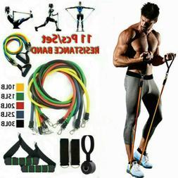 11pcs resistance bands set home gym workout