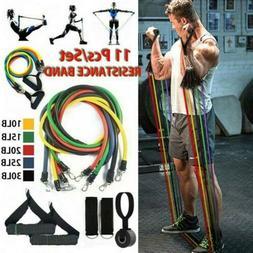 11pcs Resistance Trainer Set Exercise Fitness Tube Gym Worko