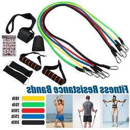 11Pcs/Set Fitness Resistance Bands Exercise Elastic Pull Str