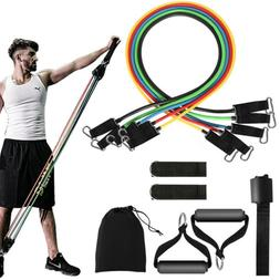 11pcs set pull rope exercise resistance bands