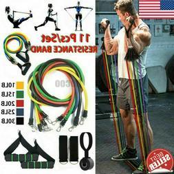 11Pcs Set Resistance Bands Workout Exercise Yoga Crossfit Fi
