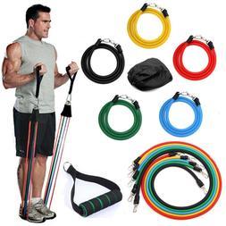 11Pcs Workout Exercise Resistance Bands Pilates gym Yoga acc