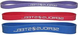 "Serious Steel Fitness 12"" Resistance Band #1#2#3 Set"