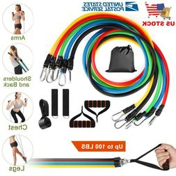Mpow 150 LBS Resistance Bands set Resistance with Handles 5