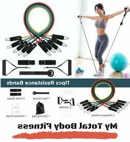 150LB Heavy Resistance Band Set w/ Handles, Ankle Straps Gym