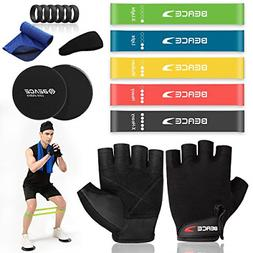 ?17 Pack Exercise Set? Gym Gloves,5 Exercise Resistance Loop