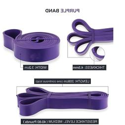 1x Resistance Bands Yoga Pilates Abs Exercise Fitness Tube W