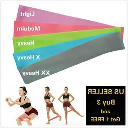 2 FT RESISTANCE BANDS LOOP Exercise Yoga Training Elastic Fi