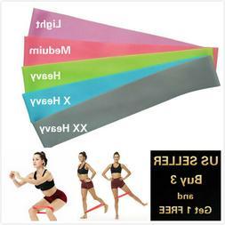 2 FT RESISTANCE BANDS LOOP Exercise Yoga Training Elastic Fi