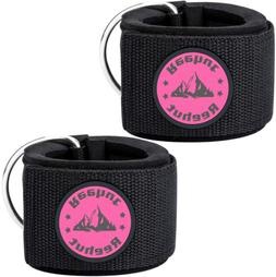2 PCs Fitness Exercise Gym Weight Lifting D Ring Ankle Strap