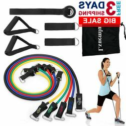 2019 Upgraded Resistance Bands Tubes Set with Handles Exerci