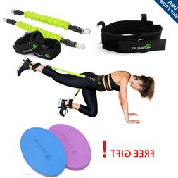 50LBs Exercise Belt Booty Band Set - Resistance Bands for Le