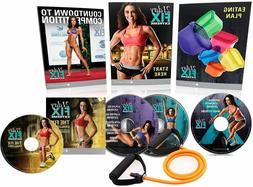 21 Day Fix Extreme Workout DVD Set,with 4 Fitness DVD and 15