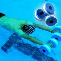 2Pcs Water Aerobics Dumbbells EVA Aquatic Barbell Fitness Aq