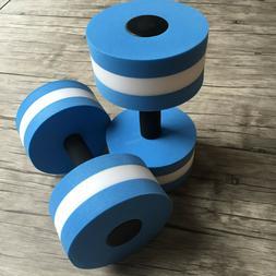 2pcs water aerobics dumbbells eva aquatic barbell