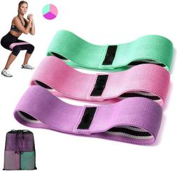3 Pcs Resistance Level Workout Booty Bands Non-Slip Design f