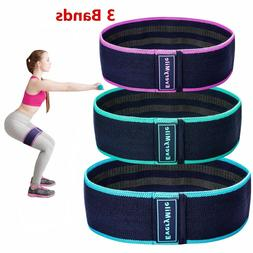 3 Resistance Bands - Exercise Legs Butt Hip Arms Fitness Phy