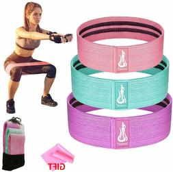 3Pc Booty Resistance Workout Bands for Legs and Butt-Elastic