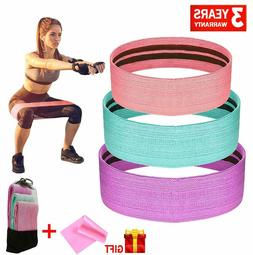 3PC* Booty Resistance Workout Bands for Legs and Butt - Elas