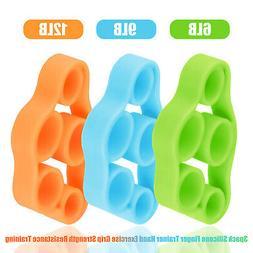 3x Finger Hand Exerciser Strengthener Wrist Forearm Grip Tra