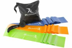 3pc resistance bands set yoga and pilates