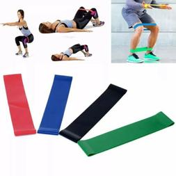 4pcs Exercise Ankle Resistance Loop Bands Elastic Strap for