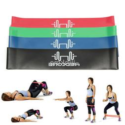 4Pcs Set Elastic Resistance Bands Loop Exercise Yoga Fitness