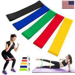 5 Colors Yoga Resistance Band Indoor Outdoor Fitness Sport T