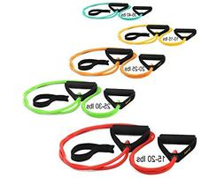 5 Deluxe Duty X-Safe Resistance Bands w/ snap-block technolo